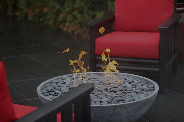 outdoor firepit Flintstone Masonry