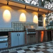 Flintstones Masonry | Outdoor Kitchen Lighting Options