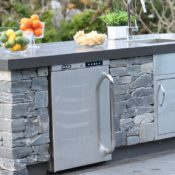 Flintstones Masonry | Outdoor Kitchen Fridge