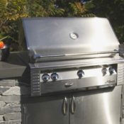 Flintstones Masonry | Outdoor Kitchen Living Capital Iron BBQ