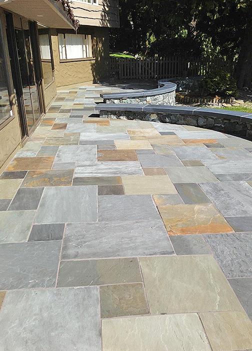 Flintstones Victoria Bc Patio Steps Bluestone Tile Bench